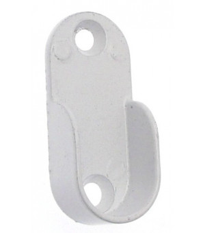 Support penderie blanc extremité D30x15