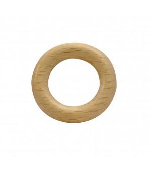 Lot de 10 anneaux naturel verni D24x40