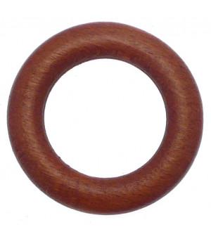 Lot de 10 anneaux merisier D24x40