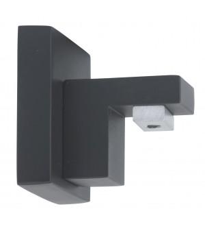 1 Naissance pour rail carré Aura noir mat D20X20