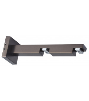 1 Support rail carré antic bronze 85-155mm D20X120