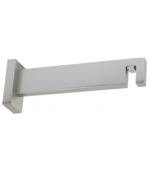 Support Aura rectangle nickel givré 155mm D33X11,5