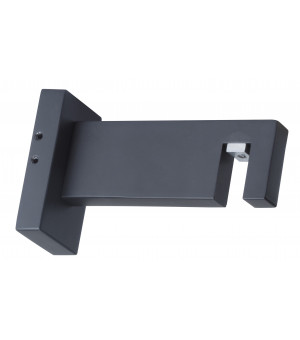 1 Support ouvert rectangle noir mat 85mm D33X11,5
