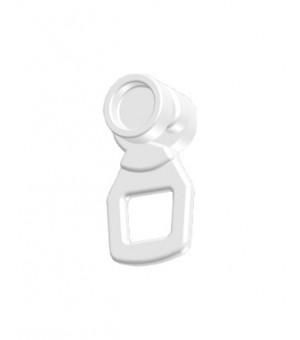 Lot 20 galets suspendeur blanc 20x20-33x11,5
