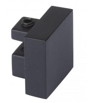 2 Embouts Bouchon carré finition noir mat D20X20