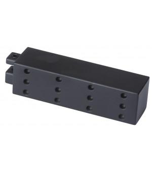 2 Embouts Aura Pixel rail carré noir mat D20X20