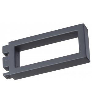 2 Embouts Rectangle ajouré rail 33x11,5 noir mat