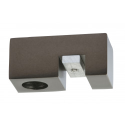 1 Tringle pression nickel givré 90-150 cm D28/25