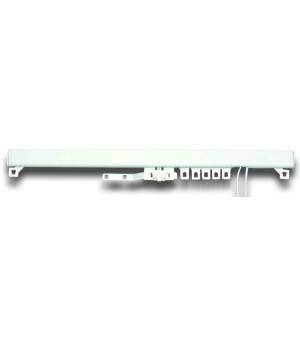 1 Tringle pression blanc mat 90-150 cm D28/25