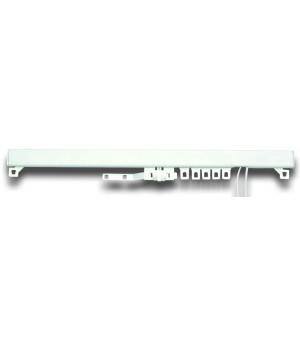 Tringle pression blanc mat 150-230 cm D28/25
