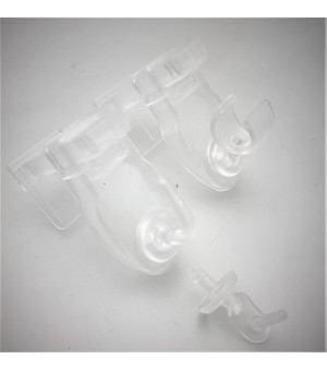 Lot de 2 Supports clic transparent