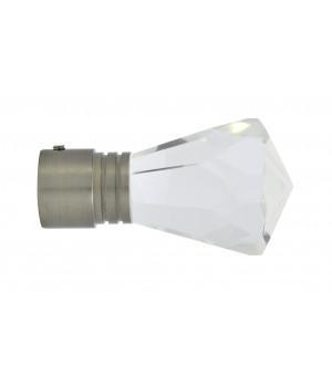 BAF21 2 Embouts Diamant nickel brossé D19
