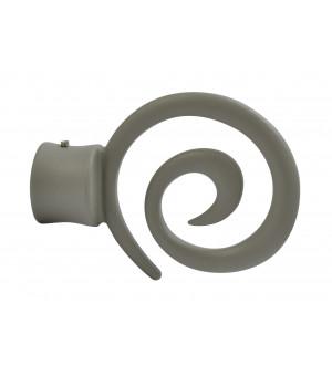 BAF21 1 Embout Spirale gris grainé D28