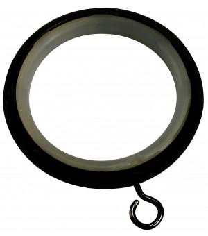 BAF21 8 Anneaux-Crochet noir brillant D46X58