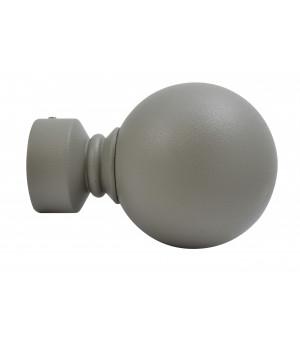 1 Embout Boule gris grainé D28