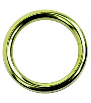 Lot de 10 anneaux laiton poli D20x27