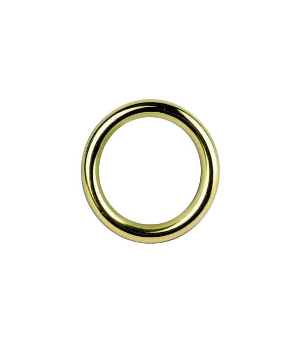 Lot de 6 anneaux laiton verni D28x39