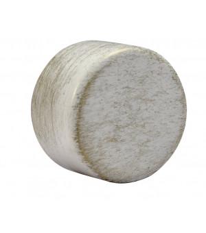 Embout Bouchon blanc brossé D28
