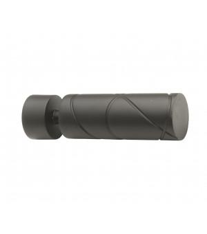 1 Embout Cylindre croisé noir mat D28
