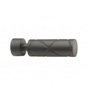 Lot de 2 embouts Cylindre croisé noir mat D20