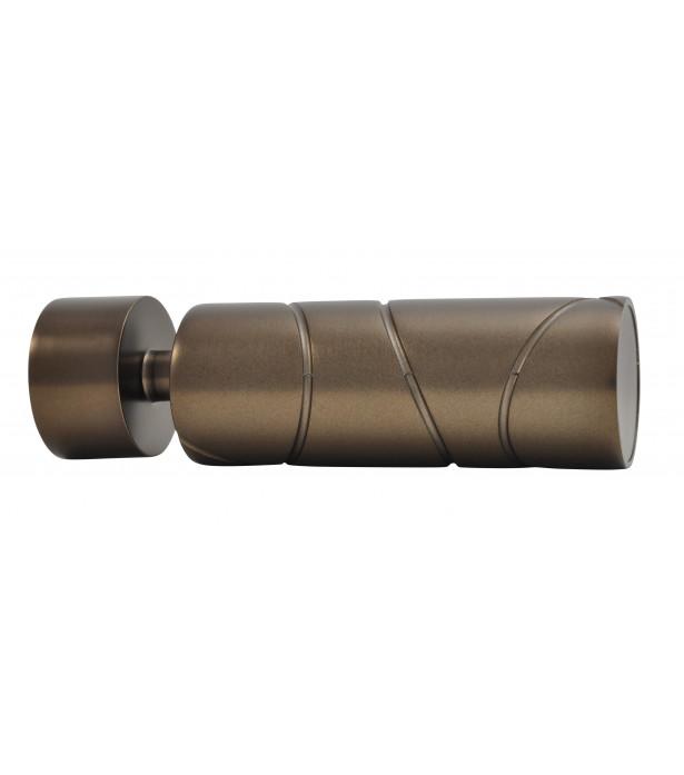 1 Embout Cylindre croisé antic bronze D28