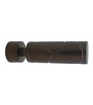 Lot de 2 embouts Cylindre croisé antic bronze D20