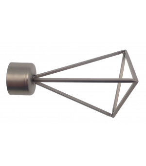 1 Embout Triangle filaire nickel givré D28