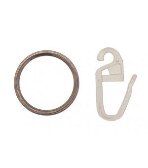Lot de 10 anneaux et 10 agrafes nickel givré D10