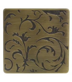Embout Cashmere décor laiton vieilli D28