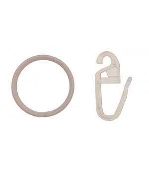 Lot de 10 anneaux et 10 agrafes blanc D10