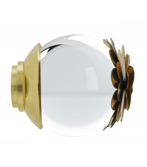 BAF21 Embout Fleur verre laiton verni D28