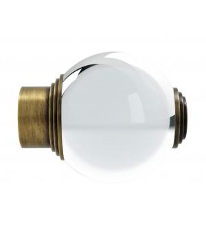 Embout Boule verre laiton vieilli D28