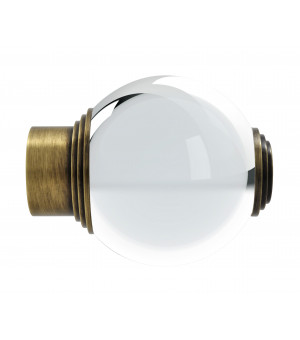 Embout Boule verre laiton vieilli D35