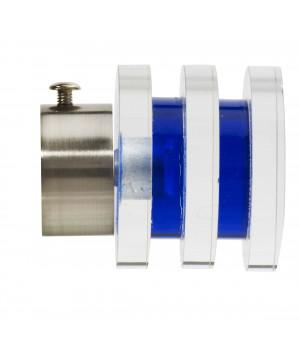 BAF Embout Diabolo nickel mat translucide bleu D28