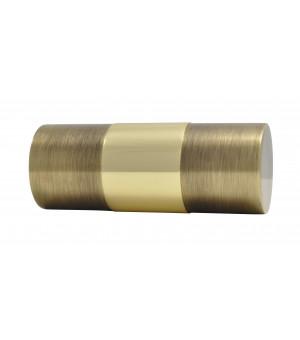 Embout Cylindre bicolor laiton verni/vieilli D35