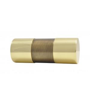 Embout Cylindre bicolor laiton vieilli/verni D28