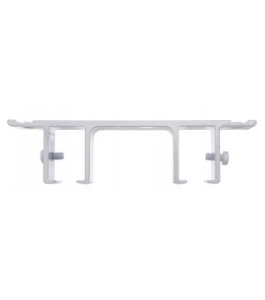 Support rail blanc double 60mm 24x16