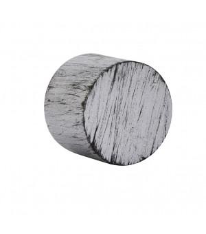 Embout Bouchon argent brossé noir D19
